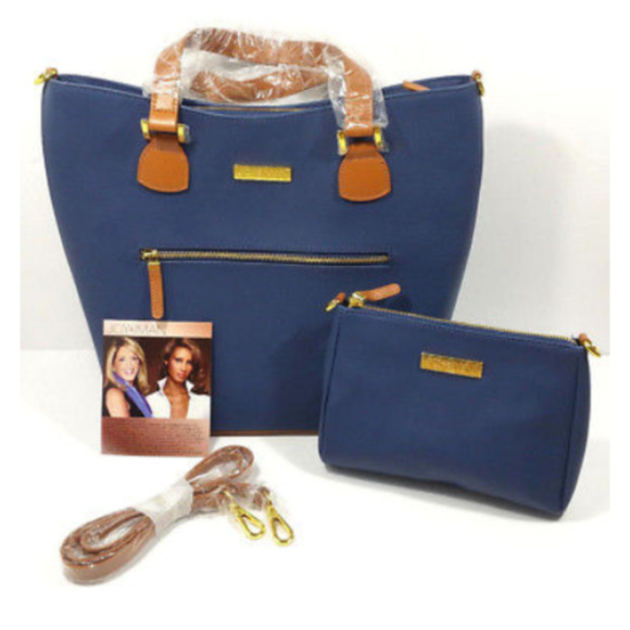 Joy & Iman Handbags - NWOT JOY & IMAN Alexandria Leather Tote Crossbody